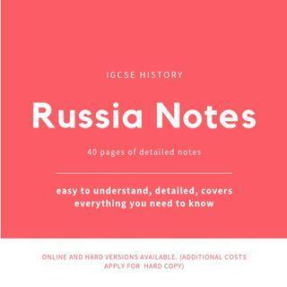 🚚 Russia: IGCSE Notes