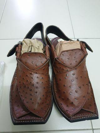Original Pakistan Leather Men Chapal UK7