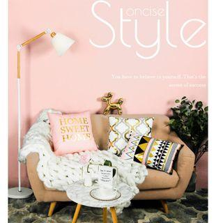 Elegant Gold Stamping Cushion, 高貴簡約湯金圖案咕𠱸套