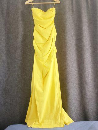 Nicole Miller silky tube dress evening gown 抹胸連身長裙
