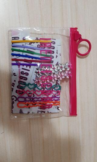 🚚 Ireneisgood Rainbow Hair Pin Set