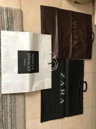 Paper bag bekas Vivere, Zara, Mark & Spencer super big size