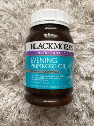 100% New - Blackmores Evening Primrose Oil 1000mg 190 Capsules 月見草油丸
