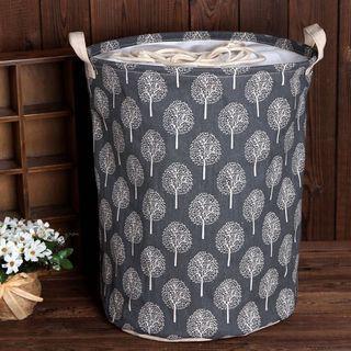 🚚 Foldable Laundry Basket (Grey or cream trees)