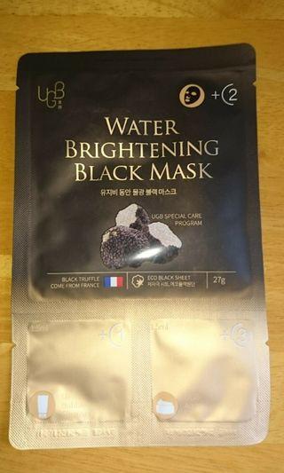 韓國UGB童顏黑松露水光黑面膜(連cleaner & cream)