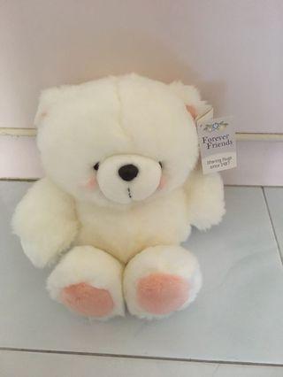White Forever Bear/ Forever Friends (Hallmark) - Authentic