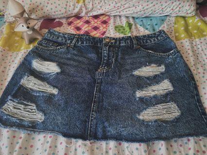 H&M牛仔短裙