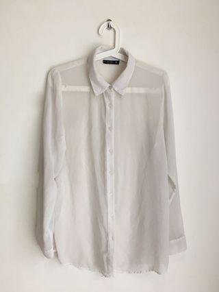 See through chiffon shirt