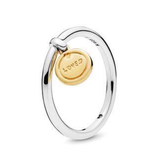 pandora純銀戒指2入