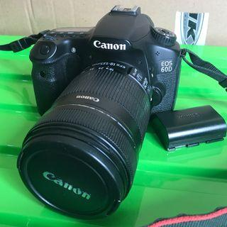 Dijual CANON 60D + Lens kit 135 mm