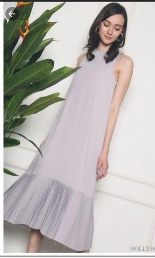 🚚 Hollyhoque  conrad pleated maxi dress size s periwinkle