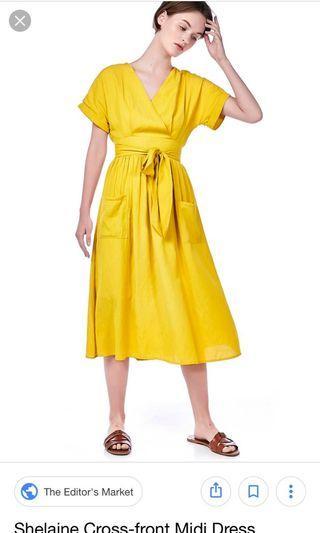 BN TEM Shelaine Cross Front Midi Dress in Dandelion