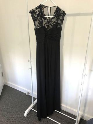 Ted Baker black sequin evening maxi dress