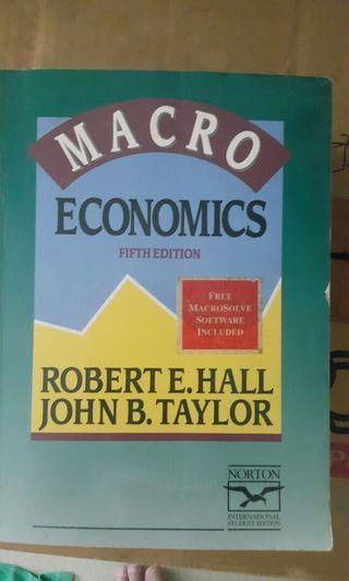 Macro Economics. Robert E. Hall and John B. Taylor