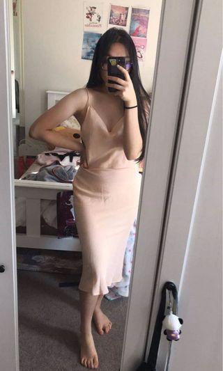 Peach slip dress