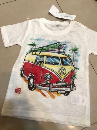 🚚 西松屋 汽車 短袖T恤上衣