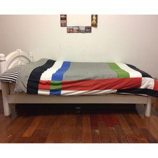 自售二手單人高密度蜂巢式彈簧床墊3.5X6.2呎可與床架一併購入