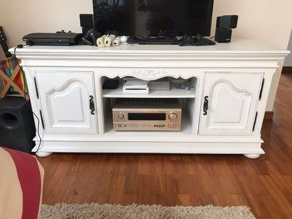 🚚 TV Console solid wood French design