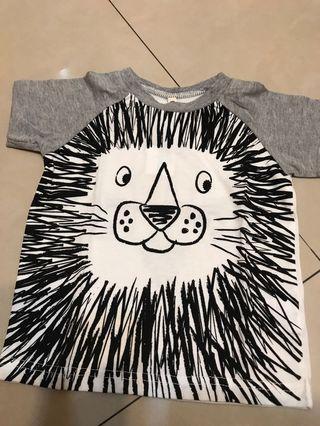 🚚 西松屋 獅子 短袖T恤上衣
