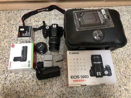 Canon 500D with Accessory (Original Battery Grip & More)