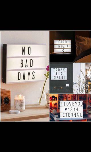 🚚 A4 letters lightbox decor