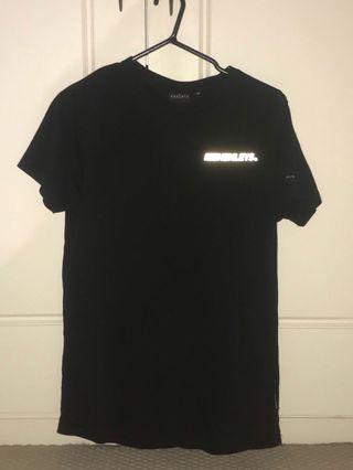 Henleys Reflective T-Shirt in Black