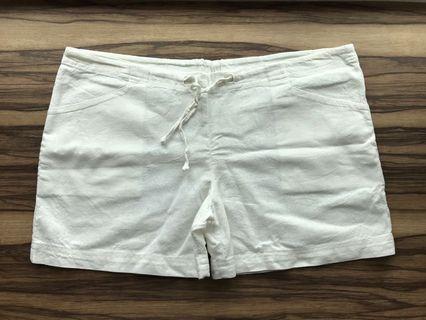 🚚 Adjustable white beach Shorts