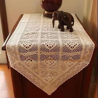 Crochet Style Table Runner
