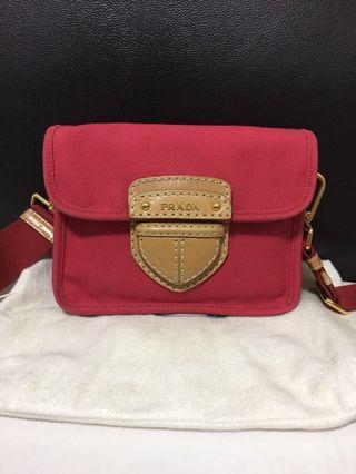 Prada pink sling bag