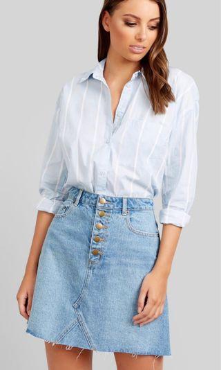 Kookai Venice Striped Shirt Size 34 BNWT