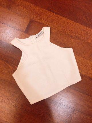 Pull & Bear Embroidered White crop Top #GayaRaya