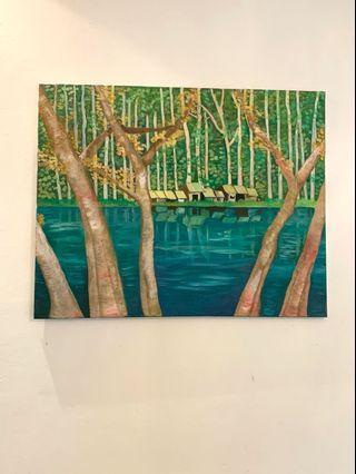 oil painting, 76cm x 60cm