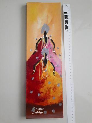 Painting from Rio - The Dancers