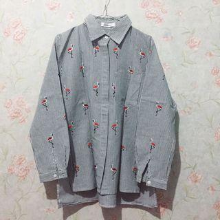 [Free Ongkir] Flamingo Stripe Shirt