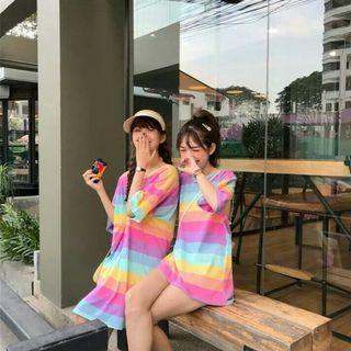 (PO) 2 Lengths - Bright Pastel Rainbow Coloured Dress / Top