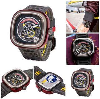 Jam Tangan Pria 7~Friday SF-S1 03 Ori BM. Fullset Box Kayu Original