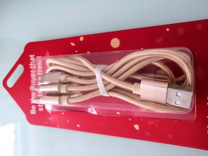 USB 充電線 3 in 1 cable
