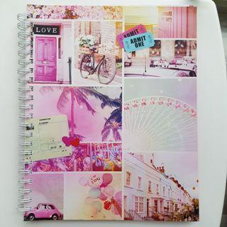 🚚 Pink Typo Ring Notebook
