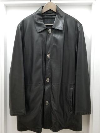 Ferragamo mens leather coat
