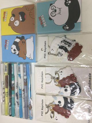 🚚 [Instock] We Bare Bear School supplies