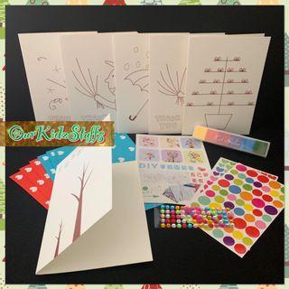 DIY Fingerprinting Thank you Card