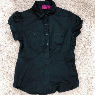 Personal identity black lace shirt