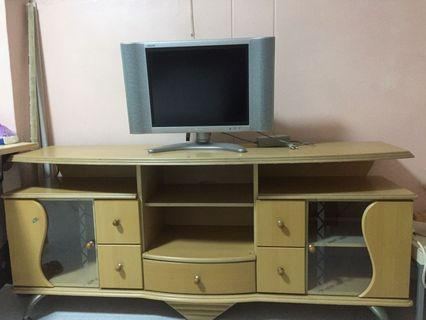 Tv console cabinet table