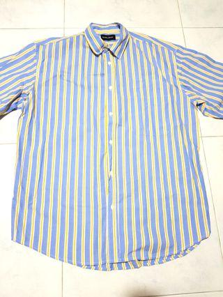 Double Denim - Blue Long Sleeve Shirt