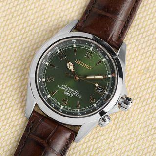 Seiko Alpinist (Japan Made) SARB017 Green Dial Explorer Watch (Discontinued)