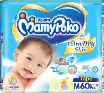 🚚 Mamypoko Extra Dry Diapers M60