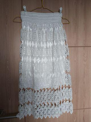 #BAPAU White Lace Skirt