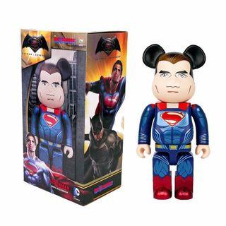 Bearbrick 400% Superman 超人 Be@rbrick Medicom Toy Figure Art Rabbrick R@bbrick Nyabrick Ny@brick 模型 擺設 收藏品