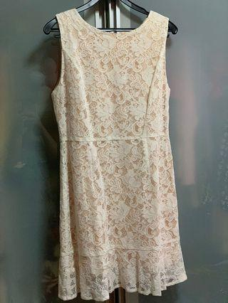 🚚 Brand new love and bravery Cream Lace Dress