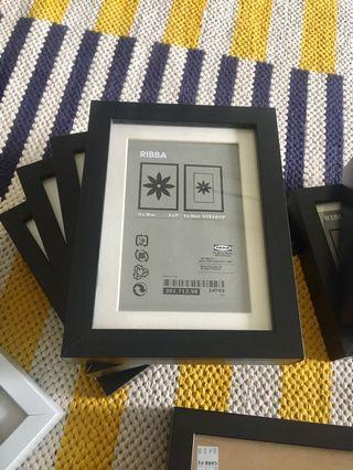Assorted size IKEA Ribba picture frames